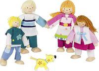 Rodzina lalek - drewniane lalki do domku GOKI