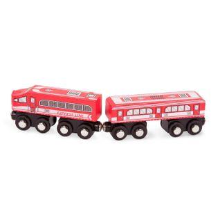 B.Toys drewniany pociąg wagon i lokomotywa czerwony