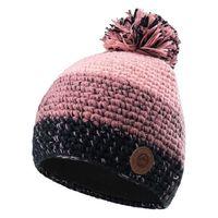 Damska czapka zimowa Elbrus Elin Wo's różowo-czarna z polarem