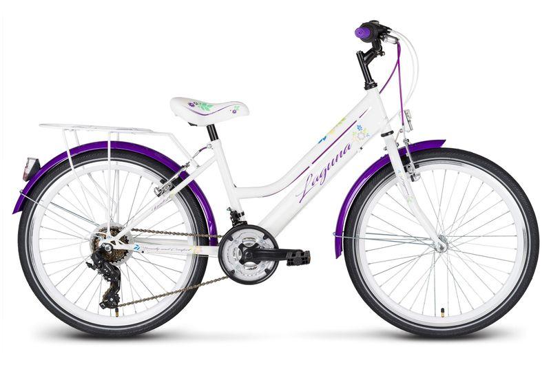 Rower 24 KANDS LAGUNA VS-2 stożek biało-fioletowy zdjęcie 1