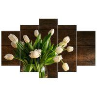 OBRAZ DRUKOWANY  Kremowe tulipany 100x63
