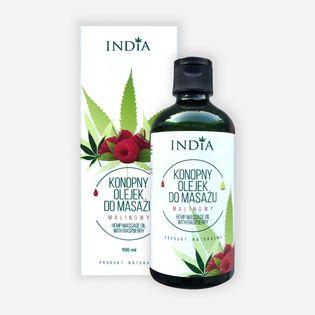 Olejek do masażu INDIA malinowy 100ml