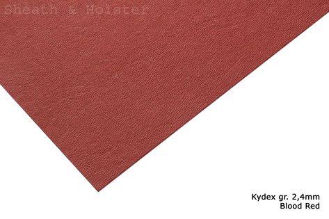 Kydex Blood Red - 200x300mm gr. 2,4mm