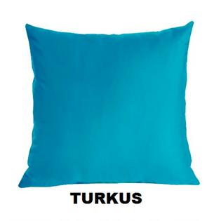 Poszewka Satynowa na Poduszkę 50x60 TURKUS