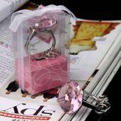 Diamentowy brelok różowy PIERŚCIONEK z brylantem zdjęcie 4
