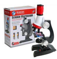 Mikroskop Edukacyjny 1200x 400x 100x Zestaw + Akcesoria Światło Y94
