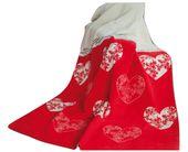 Koc Glamour Romantic Czerwony 150x200 Greno