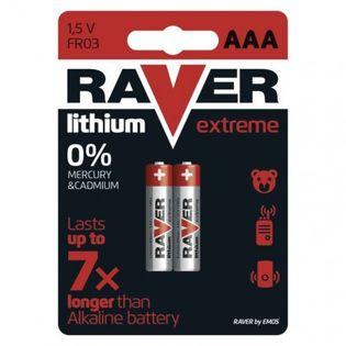 Bateria litowa Raver Lithium AAA (FR03) blister 2