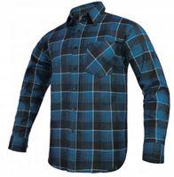Koszula flanelowa MODAR niebieska R-43