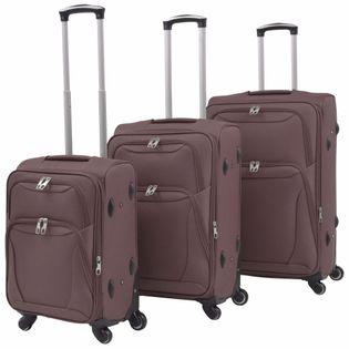 3-częściowy komplet walizek podróżnych kawowy VidaXL