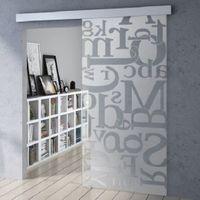 Drzwi szklane przesuwne OPTIMUM + wzpr piaskowany P52