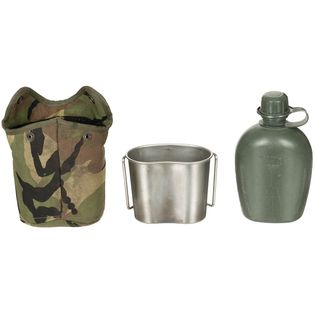 Holenderska manierka wojskowa + kubek NL używany