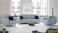 Zestaw SALEM 3+1+1 fotel kanapa funkcja spania