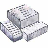Pojemnik do szuflady na bieliznę, organizer z przegródkami szary