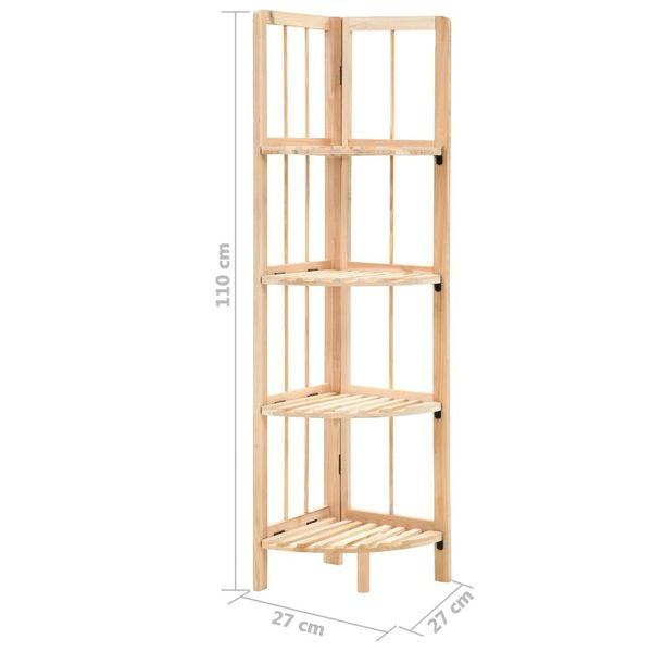 Regał Narożny Z Drewna Cedrowego, 27 X 27 X 110 Cm zdjęcie 6