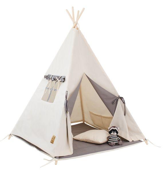 Namiot tipi dla dziecka Naturalna Szarość - zestaw mini zdjęcie 1