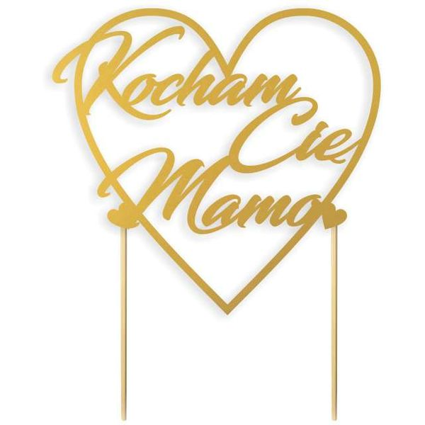Dekoracja Tort Dzień Matki Napis Kocham Cię Mamo