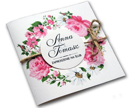 Zaproszenia ślubne na ślub zawiadomienia + koperta na Arena.pl