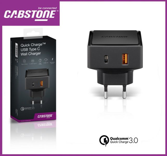 Ładowarka sieciowa Quick Charge™ USB-C CABSTONE zdjęcie 3