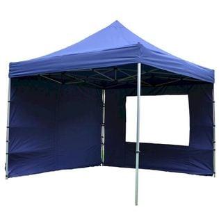 Namiot ogrodowy 3x3 m automatyczny, niebieski pawilon handlowy ze ściankami