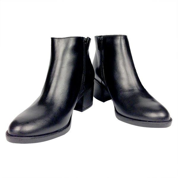a90405925a367 Botki RYŁKO 6NVA1_ AV czarne Rozmiar obuwia - 38, Kolor - Czarny zdjęcie 2