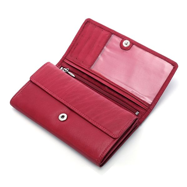 2dae63e7f9524 ... Brązowy portfel damski koprtówka ze skóry naturalnej zdjęcie 5