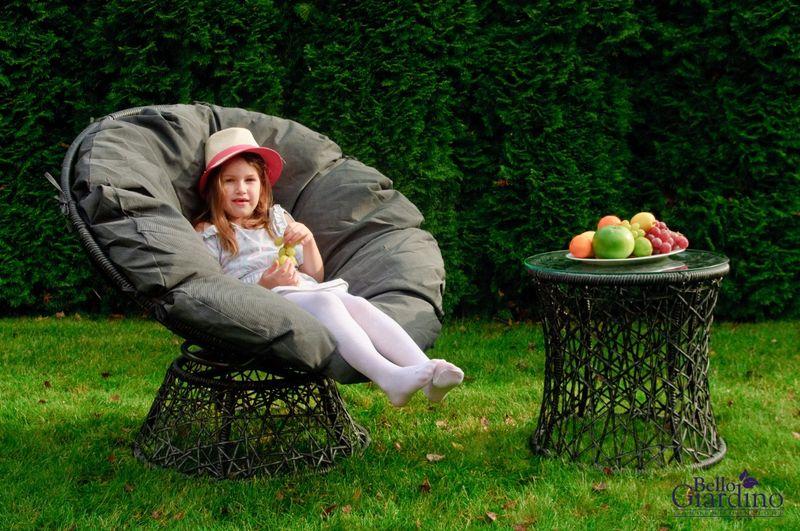 Leżanka obrotowa z technorattanu, fotel stolik rattan zdjęcie 3