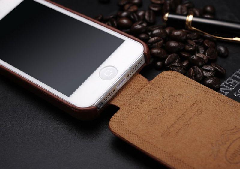 Etui z Klapką Apple iPhone SE 5s 5 Skóra + Szkło na Arena.pl