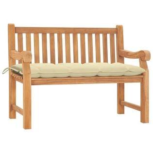Lumarko Ławka ogrodowa z poduszką, 120 cm, lite drewno tekowe