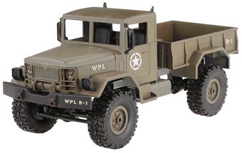 Ciężarówka wojskowa WPL B-14 (1:16, 4x4, 2.4G, LiPo) - Żółty
