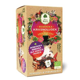 Herbata Dla dzieci KRASNOLUDEK Eko 15x3g - w piramidkach Dary Natury