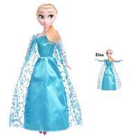 Elsa - Bajkowa Lalka w błękitnej sukni balowej