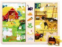 Gra i puzzle drewniane TOP BRIGHT - Na wsi, 2 x 8 elementów