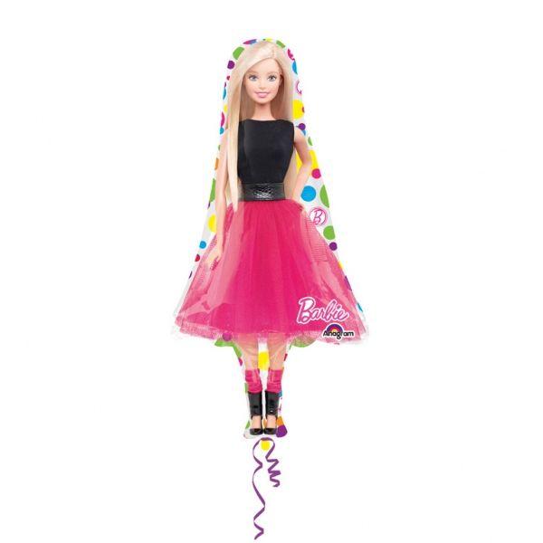 Bukiet balonów foliowych Barbie 5 szt zdjęcie 2