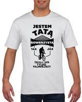 Koszulka męska TATA ROWERZYSTA FAJNIEJSZY S