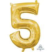 Amscan Balon foliowy mini kształt cyfra 5