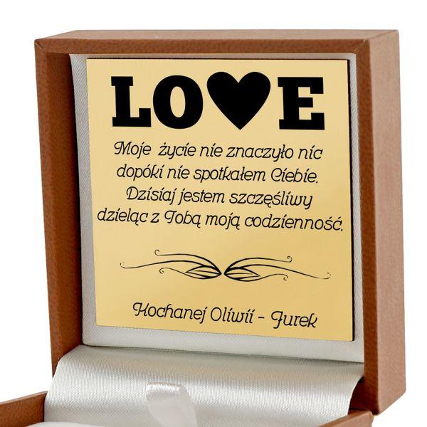 Złote serce 585 łańcuszek prezent dla Niej GRAWER na Arena.pl
