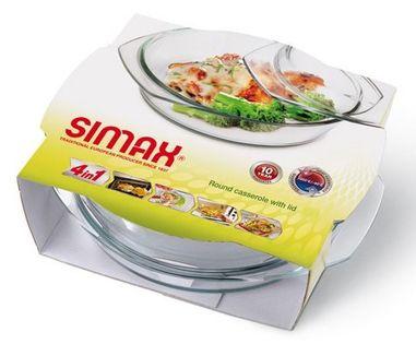 Naczynie żaroodporne okrągłe z pokrywą 1 l SIMAX
