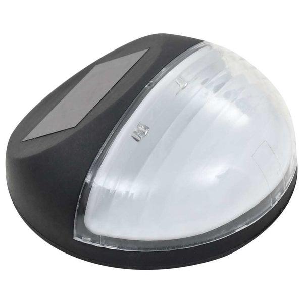 Ścienne Lampy Solarne Led Na Zewnątrz, 12 Szt, Okrągłe, Czarne zdjęcie 4