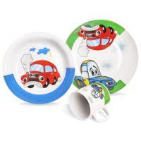 Zestaw Porcelanowy Dla Dzieci 3-El. Orion Auta 112351