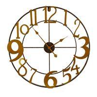 Zegar Ścienny Metal Złoty Metal (68 x 3,5 x 68 cm)