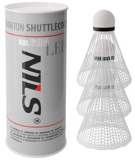 Lotki do badmintona nylon świecące LED Nils NBL6193 3 sztuki