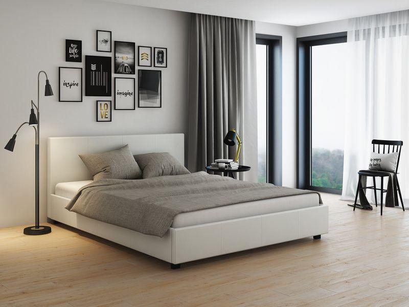 łóżko Z Pojemnikiem Veronica 160x200 Białe
