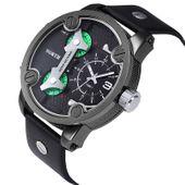 Zegarek męski North 6011 skórzany pasek wodoszczelny, czarny, nowy