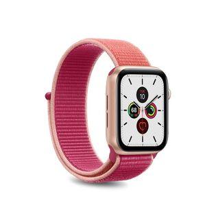 PURO Nylon - Pasek do Apple Watch 38 / 40 mm (Koralowy/Różowy)