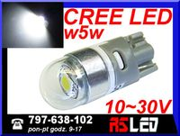 żarówka LED T10 Cree UHP biała zimna 12v 24v wysoka jakość MOCNA