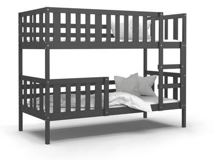 Łóżko piętrowe NEMO szare + materace
