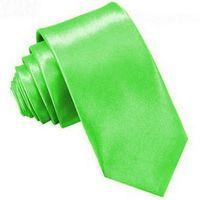 KRAWAT ŚLEDŹ SLIM, WĄSKI ŚLEDZIK - zielony