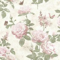 Tapeta SANSA romantyczne kwiaty róże 215007 Rasch