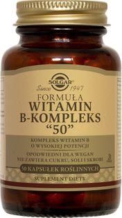 Formuła witamin B-Kompleks 50 kapsułek Solgar